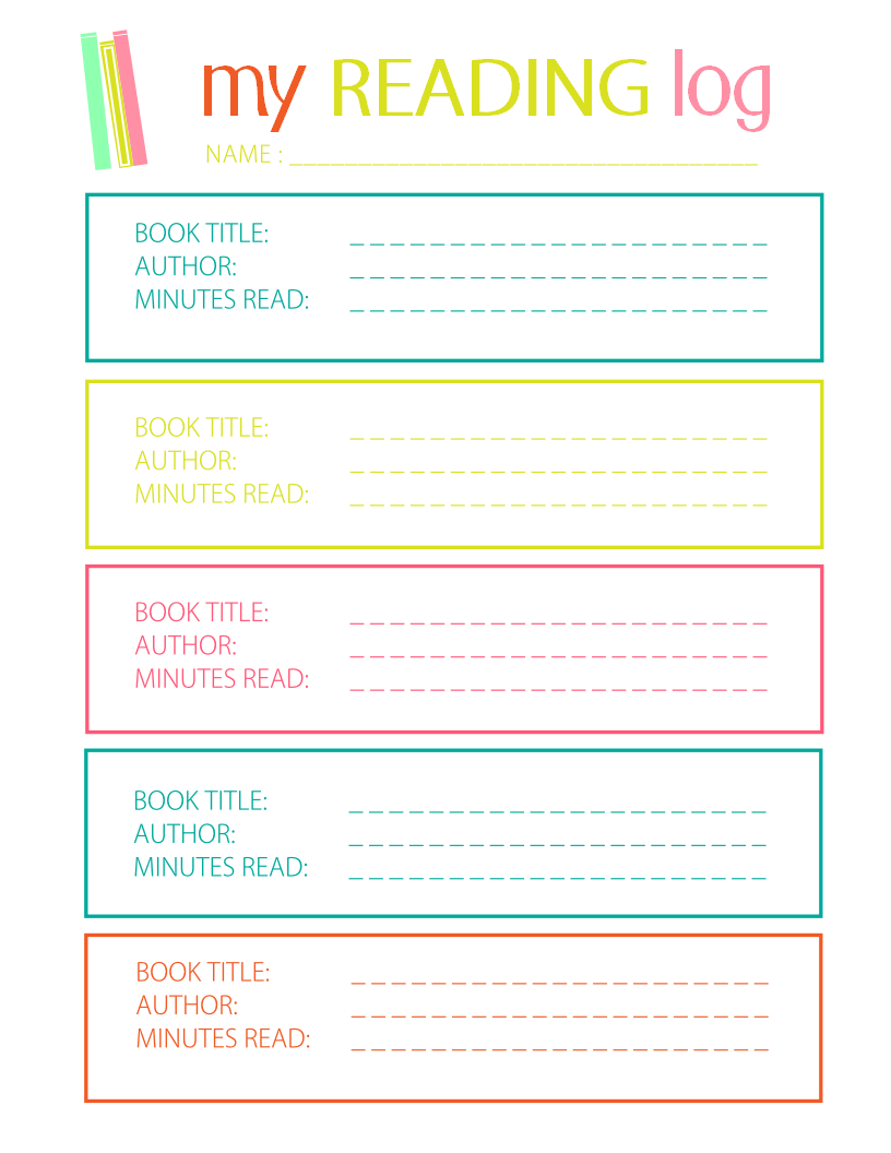 Printable Reading Log For Elementary Kids - Free Printable Reading Logs For Children