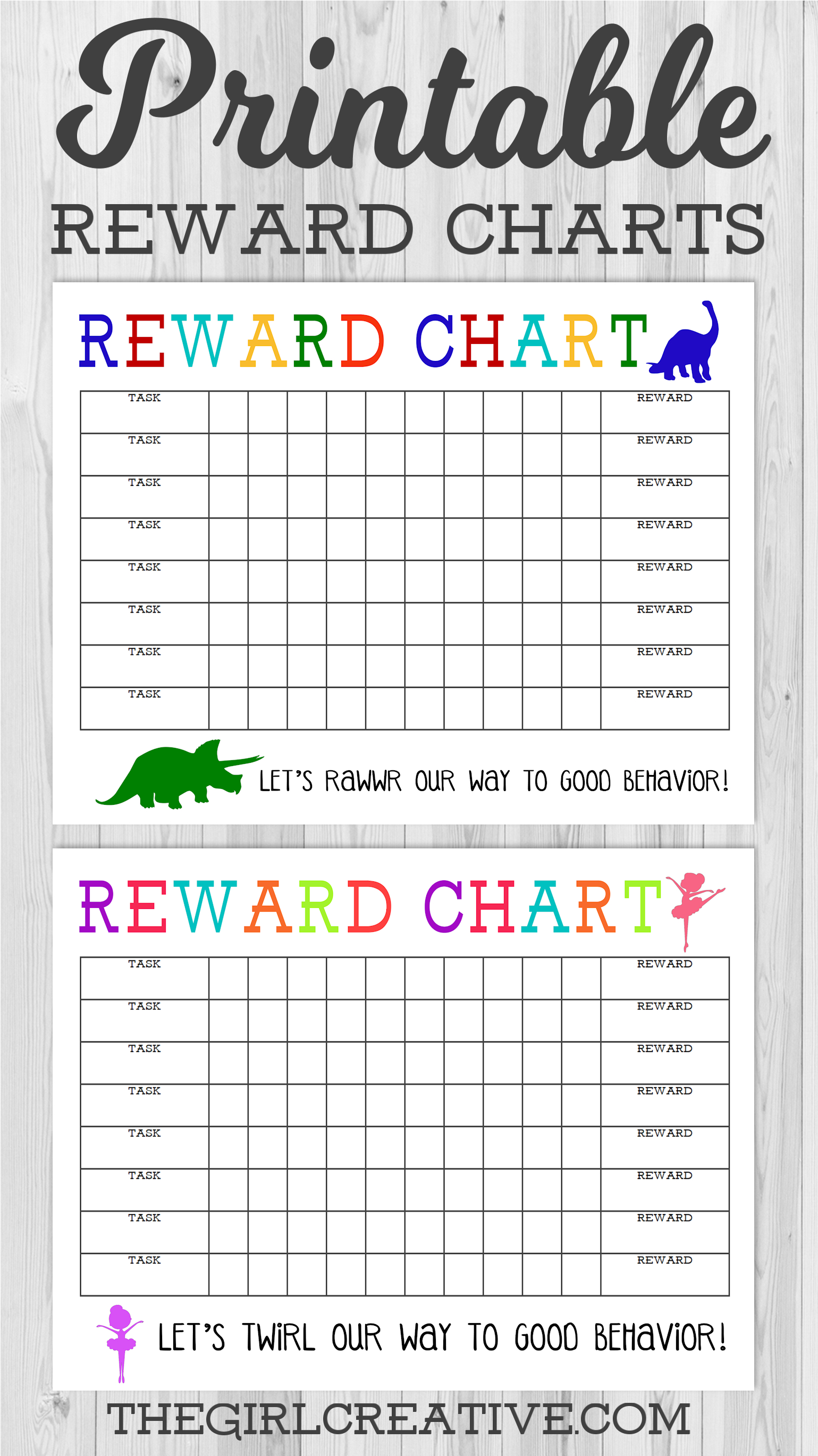 Printable Reward Chart - The Girl Creative - Free Printable Incentive Charts For School