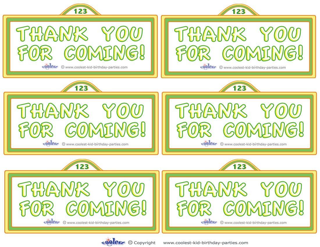 Printable Sesame Street Sign Thank You Cards - Coolest Free - Free Printable Sesame Street Sign