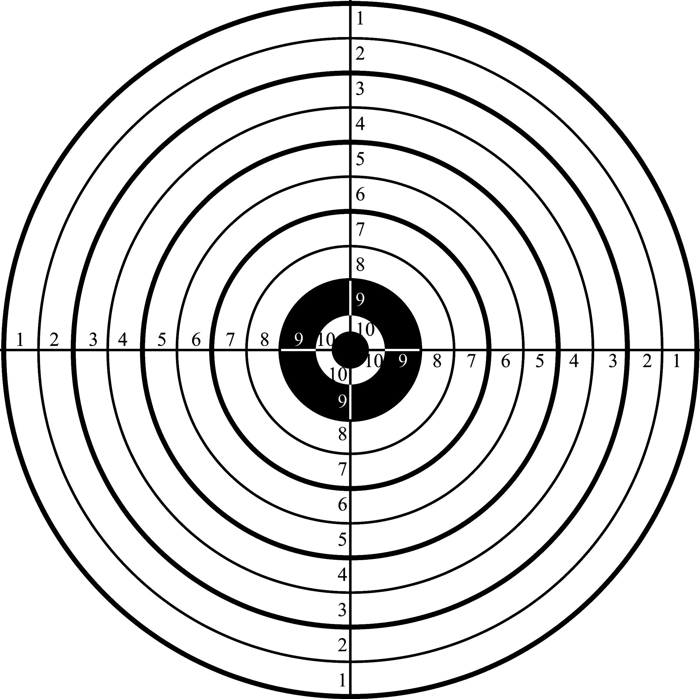 Printable Shooting Targets For Pistol, Rifle, Airgun, Archery - Free Printable Shooting Targets