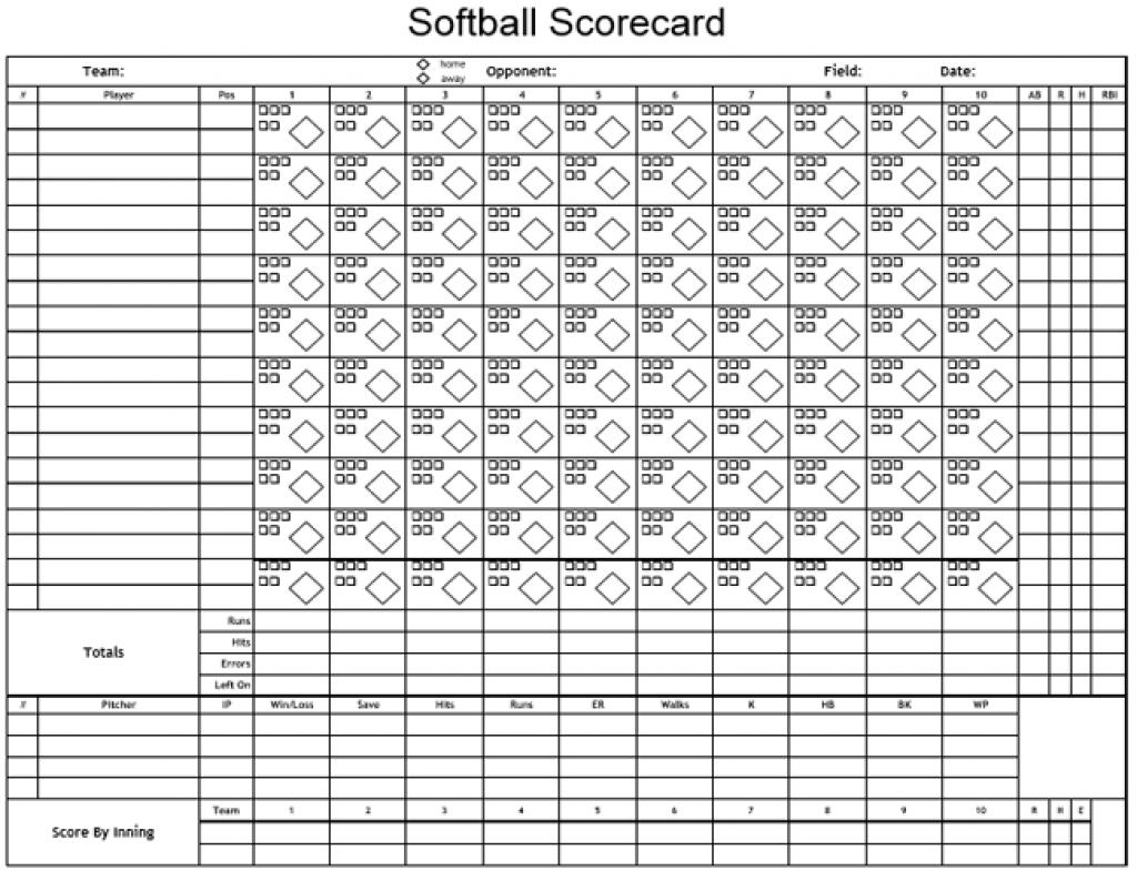Printable Softball Score Sheet   Printable Sheets - Free Printable Softball Images