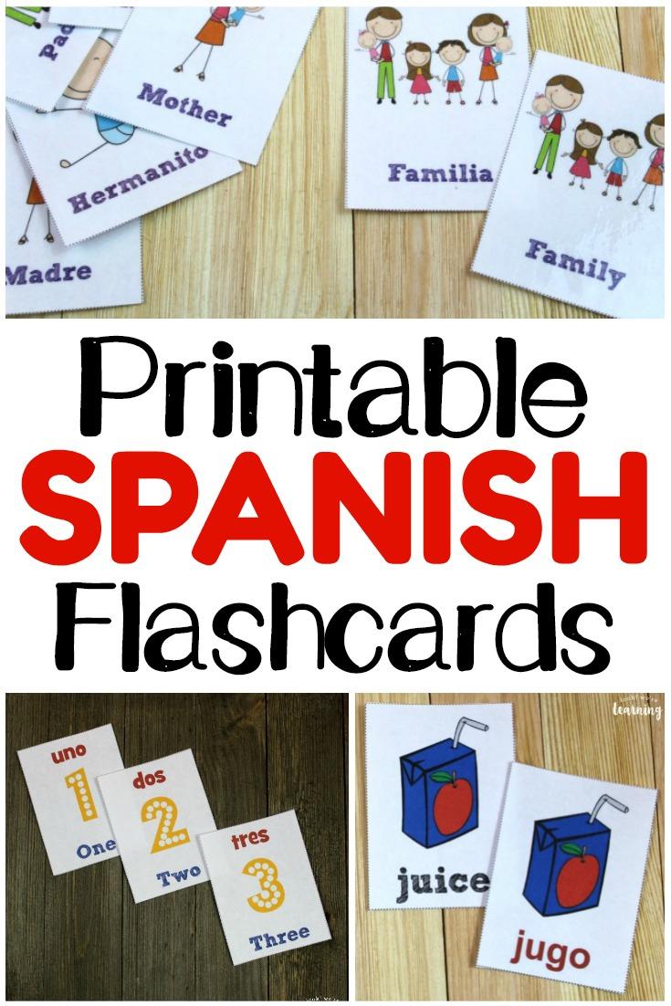 Printable Spanish Flashcards - Look! We're Learning! - Spanish Alphabet Flashcards Free Printable
