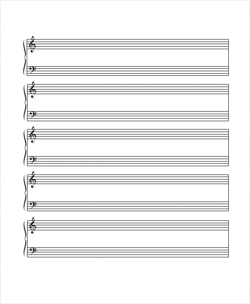 Printable Staff Paper - 6+ Pdf Documents Download | Free & Premium - Free Printable Grand Staff Paper