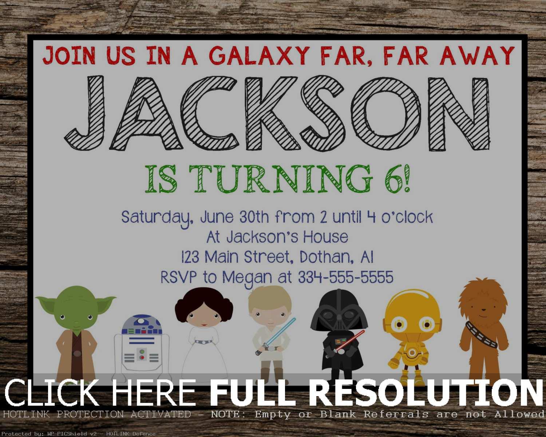 Printable Star Wars Birthday Invitations | Hunecompany - Star Wars Invitations Free Printable