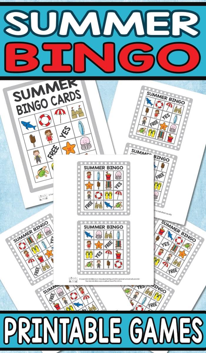Printable Summer Bingo Game For Kids - Itsy Bitsy Fun - Free Printable Summer Games