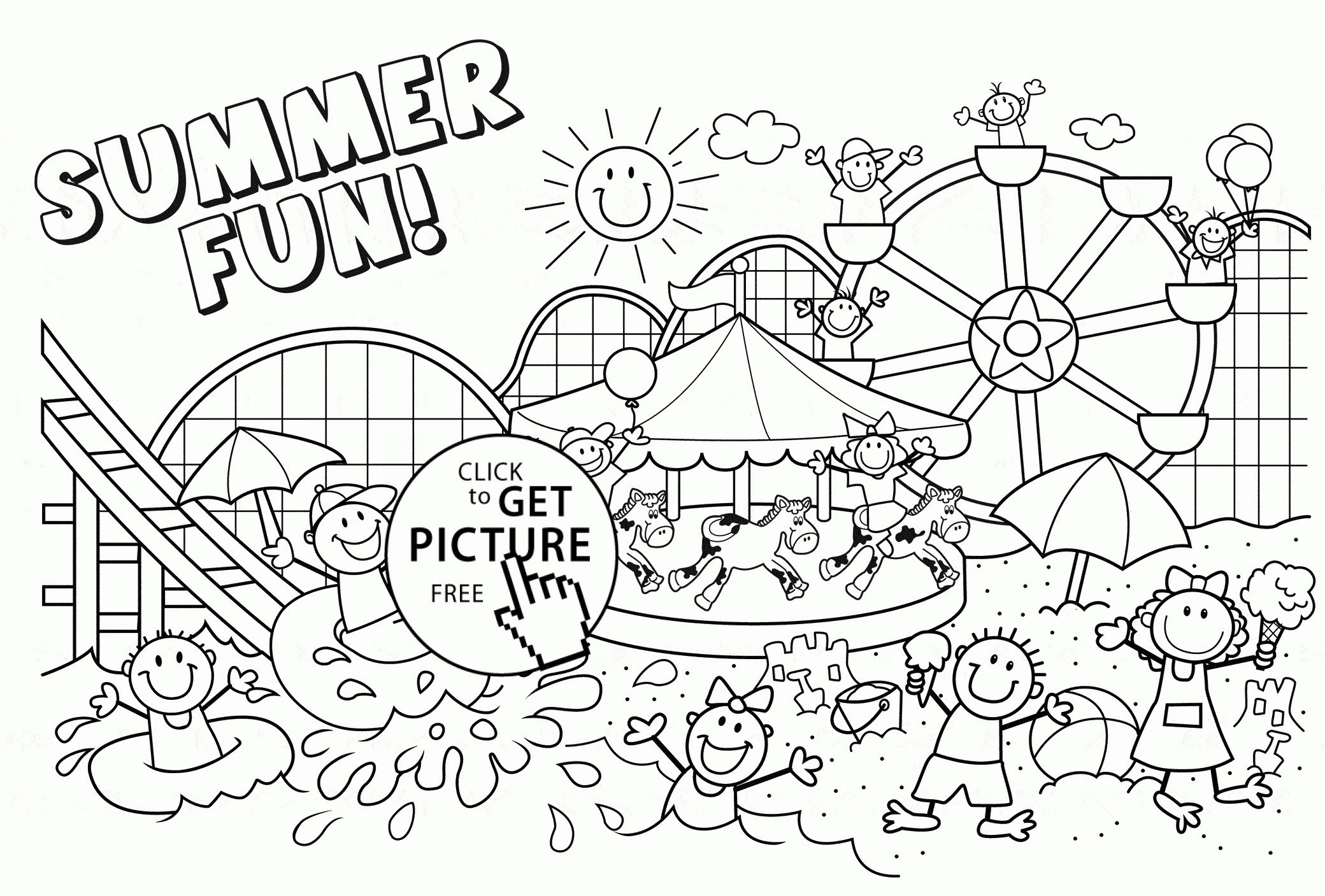 Printable Summer Coloring Pages 8 #1357 - Free Printable Summer Coloring Pages For Adults