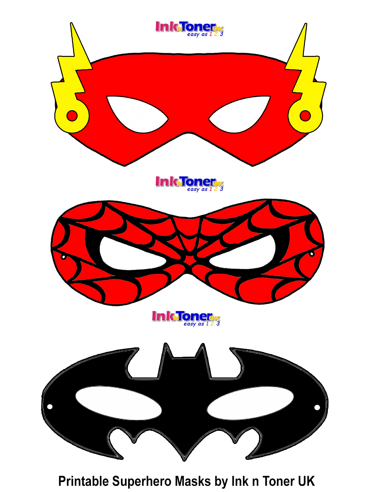 Printable Superhero Masks For Super Hero Day | Inkntoneruk Blog - Superman Mask Printable Free