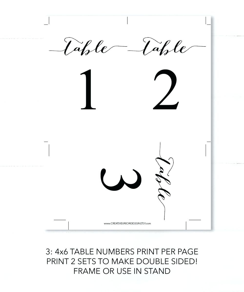 Printable Table Numbers – Namiswla - Free Printable Table Numbers