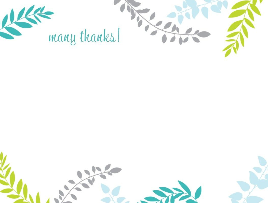 Printable Thank You Card Template   Harmonia Gift   Teacher's Day - Thank You Card Free Printable Template