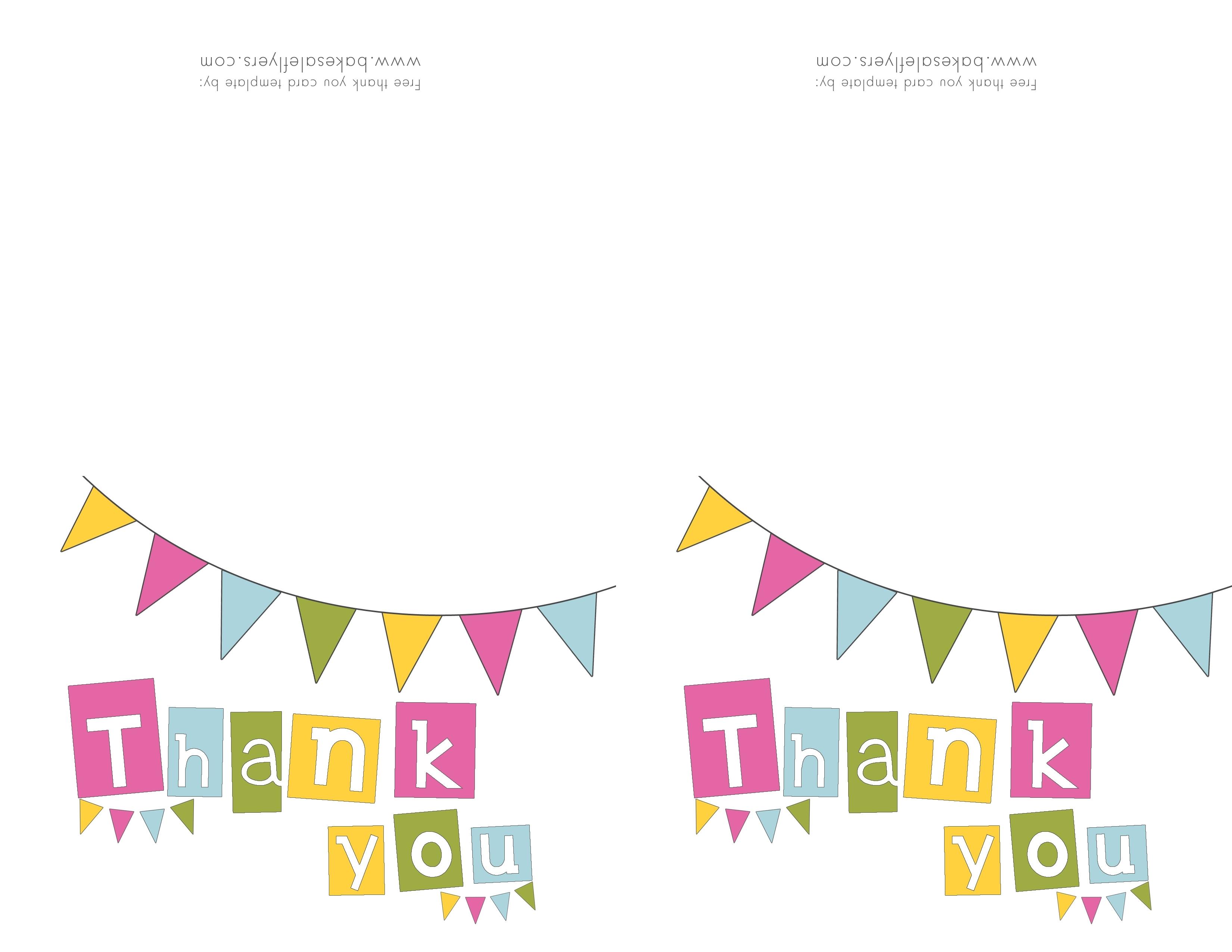 Printable Thank You Card Template   Reactorread - Thank You Card Free Printable Template