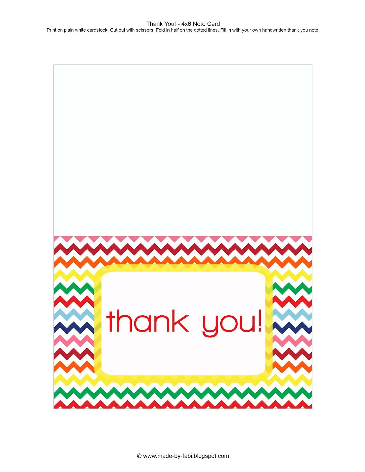 Printable Thank You Cards For Students - Printable Cards - Free Printable Thinking Of You Cards