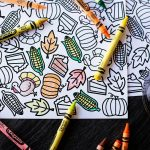 Printable Thanksgiving Coloring Placemat — All For The Boys   Free Printable Thanksgiving Coloring Placemats