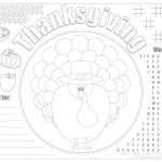 Printable Thanksgiving Placemats For Kids   Free | Live Craft Eat   Free Printable Thanksgiving Coloring Placemats