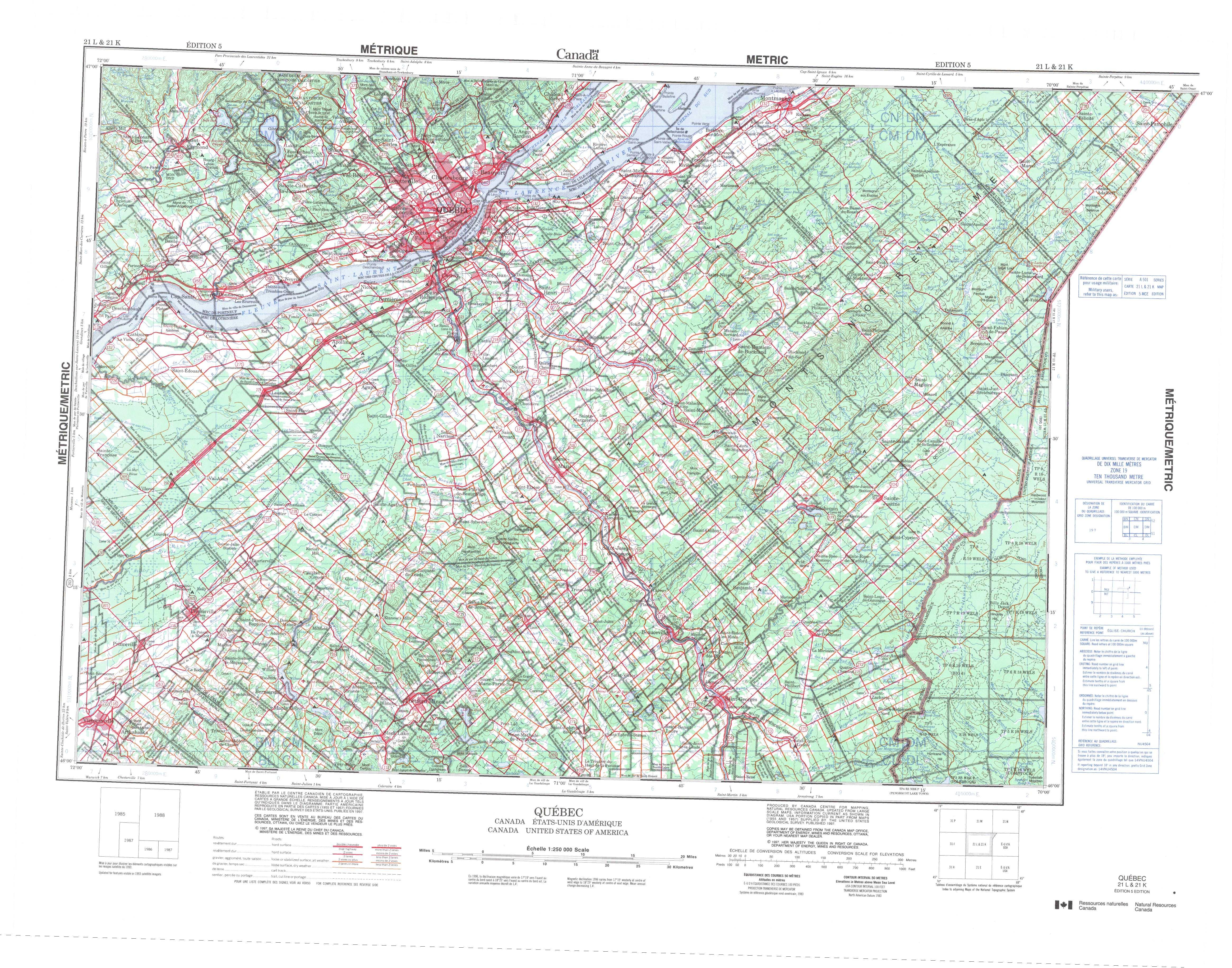 Printable Topographic Map Of Quebec 021L, Qc - Free Printable Topo Maps