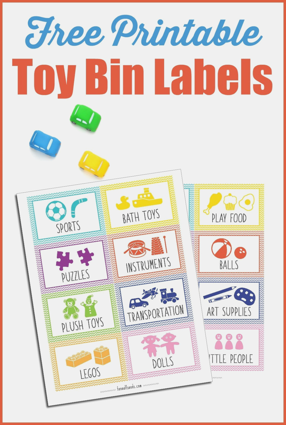 Printable Toy Bin Labels That Are Cute And Free – Free Printable - Free Printable Play Food Labels