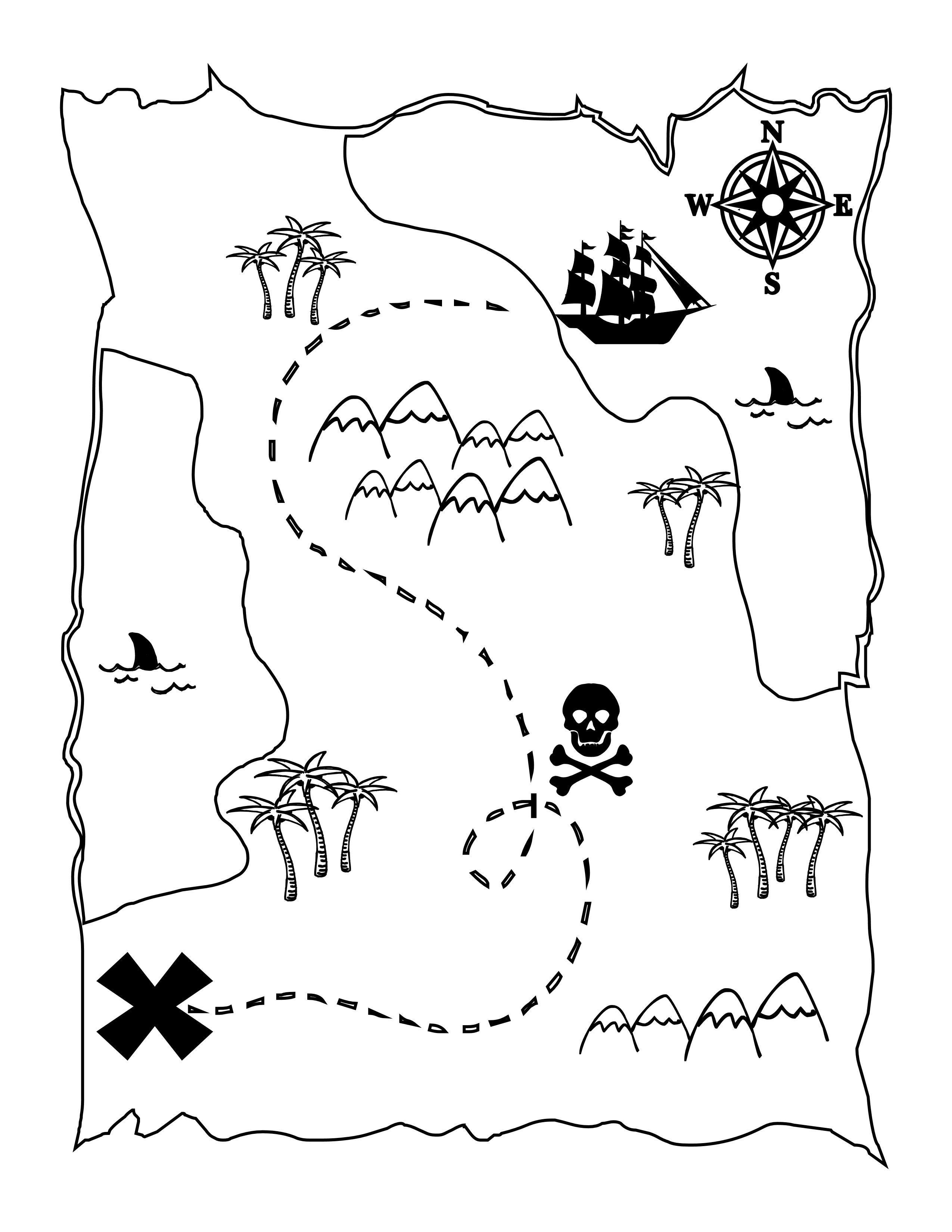 Printable Treasure Map Kids Activity | Printables | Pinterest - Free Printable Maps For Kids