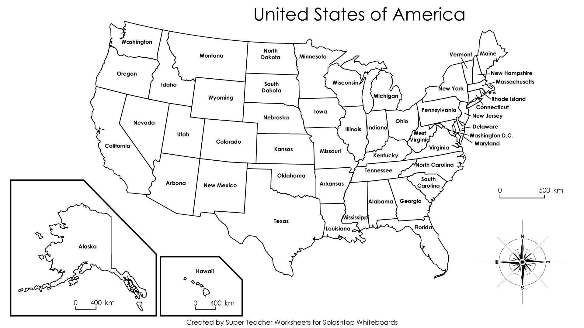 Printable Us Map States Labeled New United States Map Label - Free Printable Labeled Map Of The United States