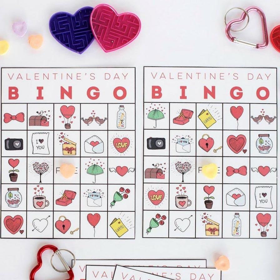 Printable Valentine's Bingo - Free Printable Valentines Bingo