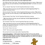 Printable Version Of The Gingerbread Man Story | Download Them Or Print   Free Printable Version Of The Gingerbread Man Story