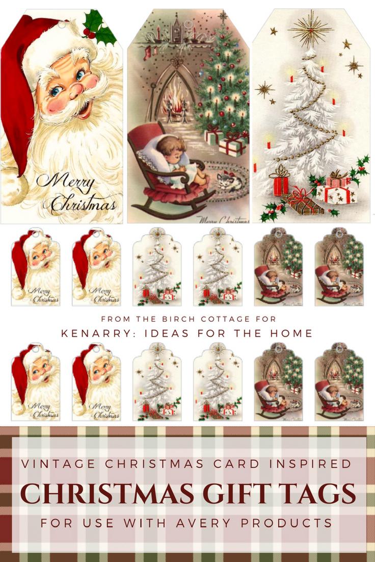 Printable Vintage Christmas Gift Tags | Christmas/winter Decorating - Free Printable Vintage Christmas Tags For Gifts