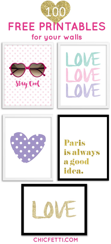 Printable Wall Art - Print Wall Decor And Poster Prints For Your - Free Printable Artwork