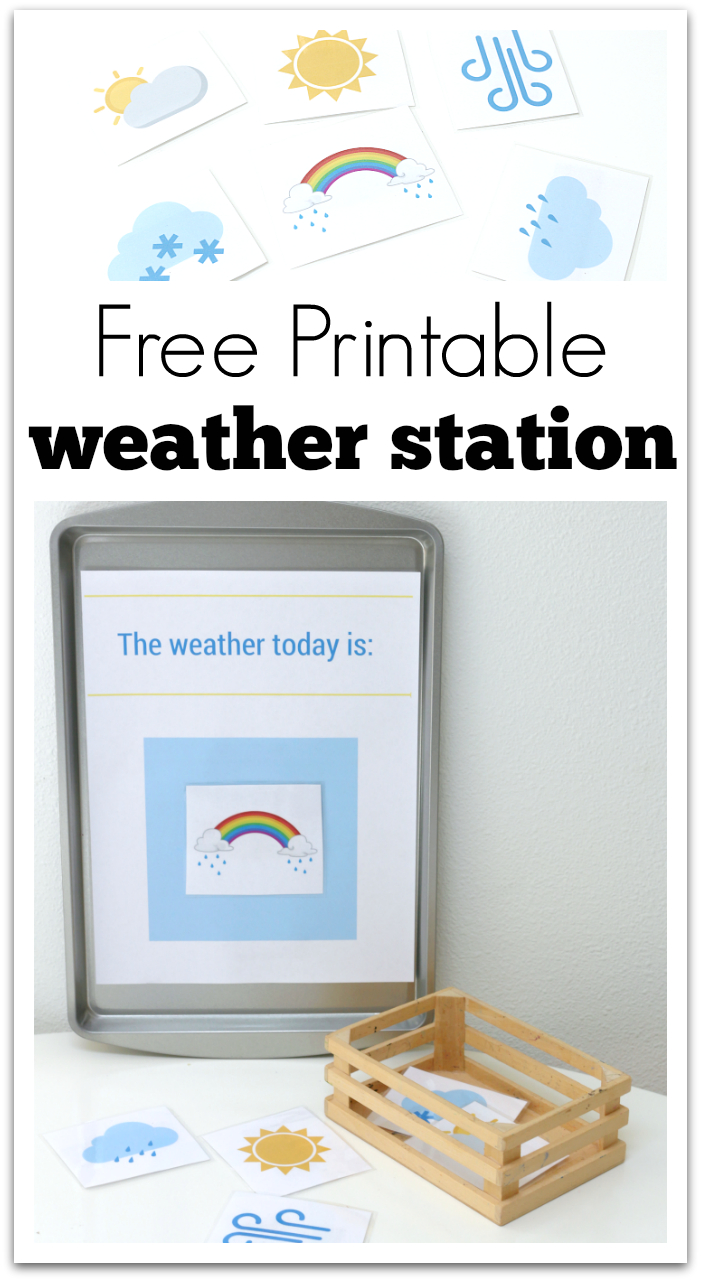 Printable Weather Station For Preschool - No Time For Flash Cards - Free Printable Weather Chart For Preschool
