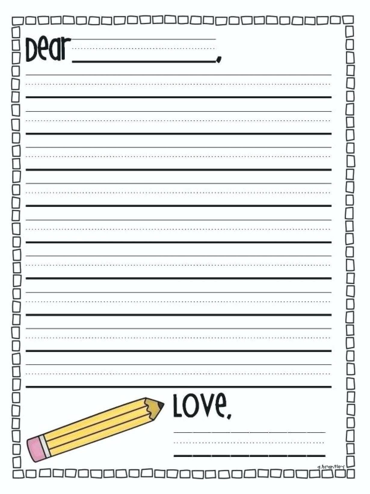 Printable Writing Paper First Grade – Shoppingfoorme.club - Free Printable Handwriting Paper For First Grade