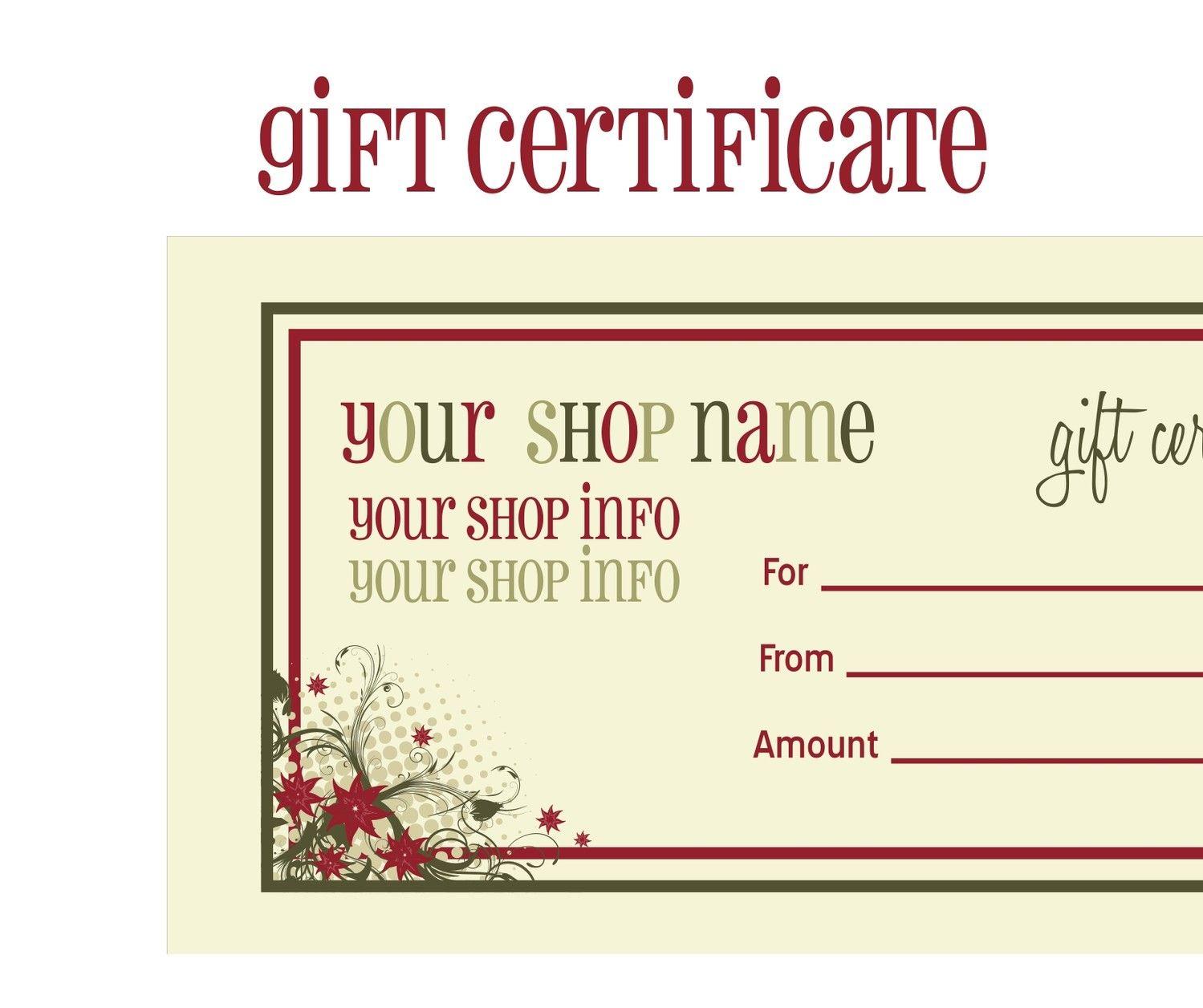 Printable+Christmas+Gift+Certificate+Template   Massage Certificate - Free Printable Gift Cards