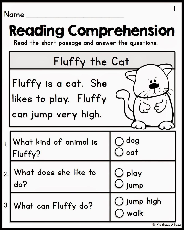 Printables. Free Kindergarten Reading Comprehension Worksheets - Free Printable Reading Activities For Kindergarten