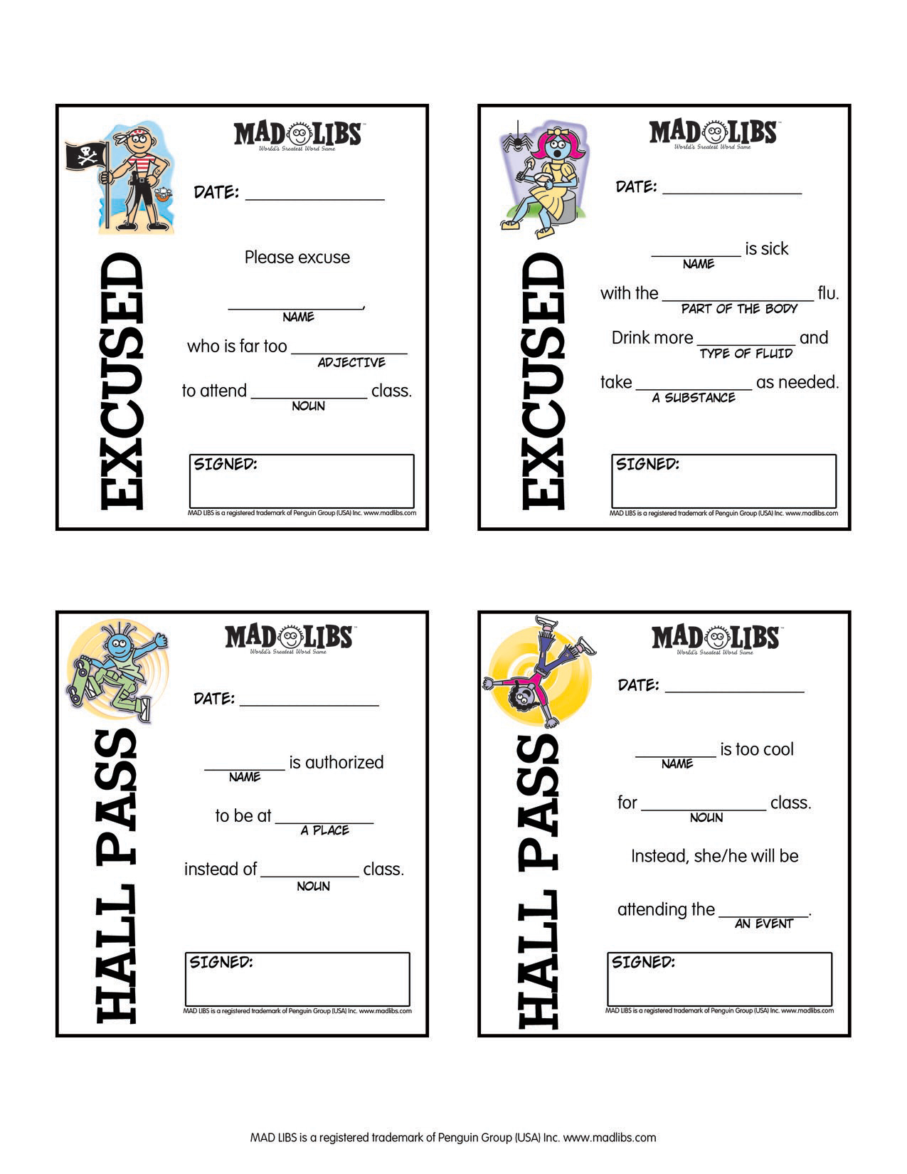 Printables – Mad Libs - Free Printable Mad Libs