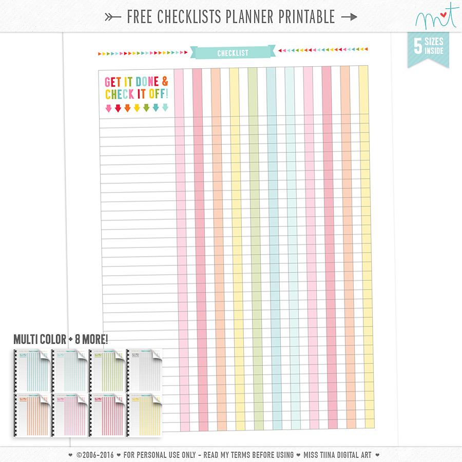 Printables | Misstiina - Free Cute Printable Planner 2017
