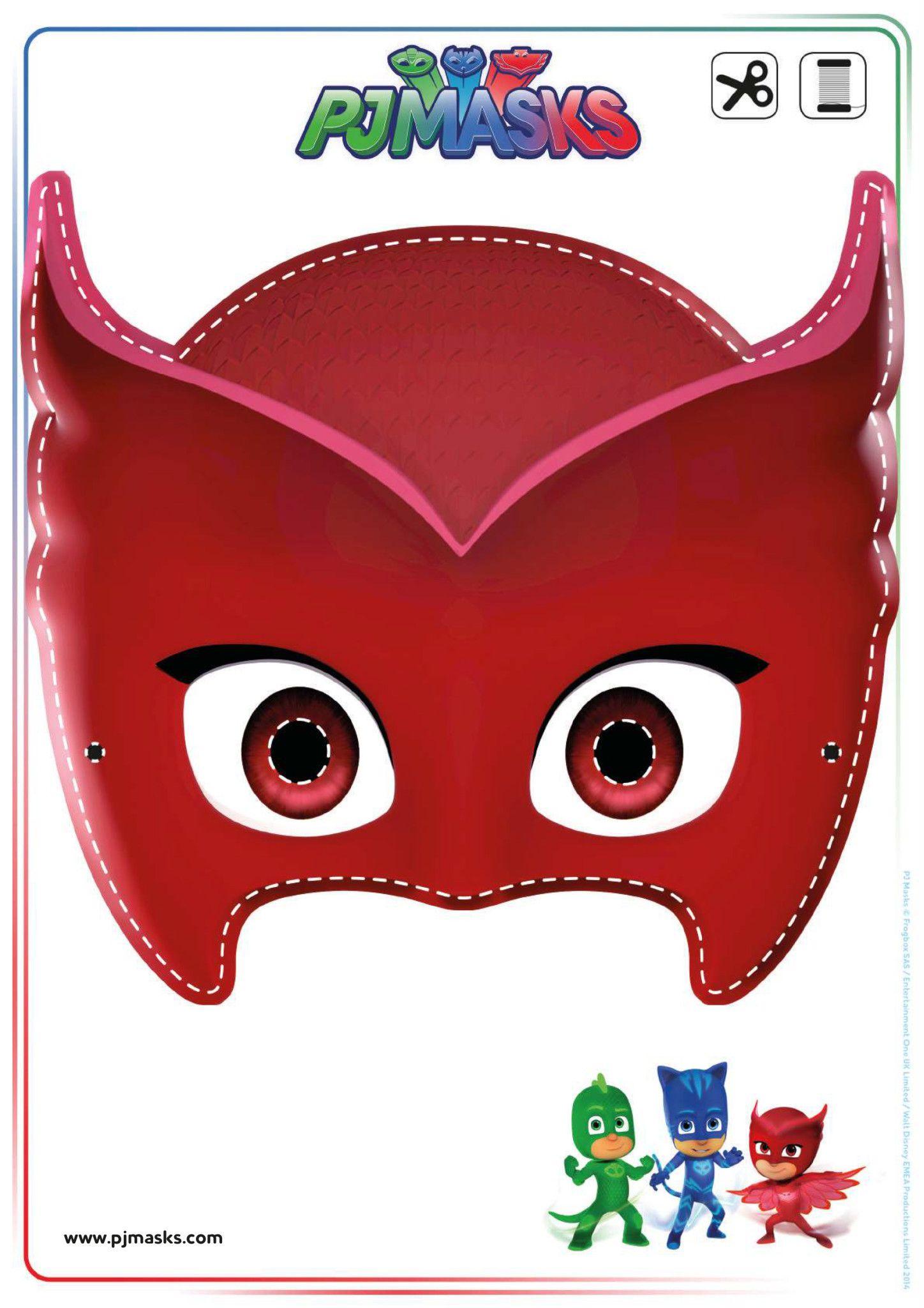 Printables – Pj Masks Owlette, Gekko, & Catboy Masks | Joey's 3Rd - Free Printable Halloween Iron Ons