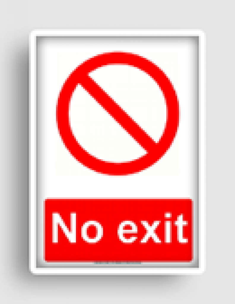 Prohibited Or No Signs Freesignage Completely Free Printable For - Free Printable No Exit Signs