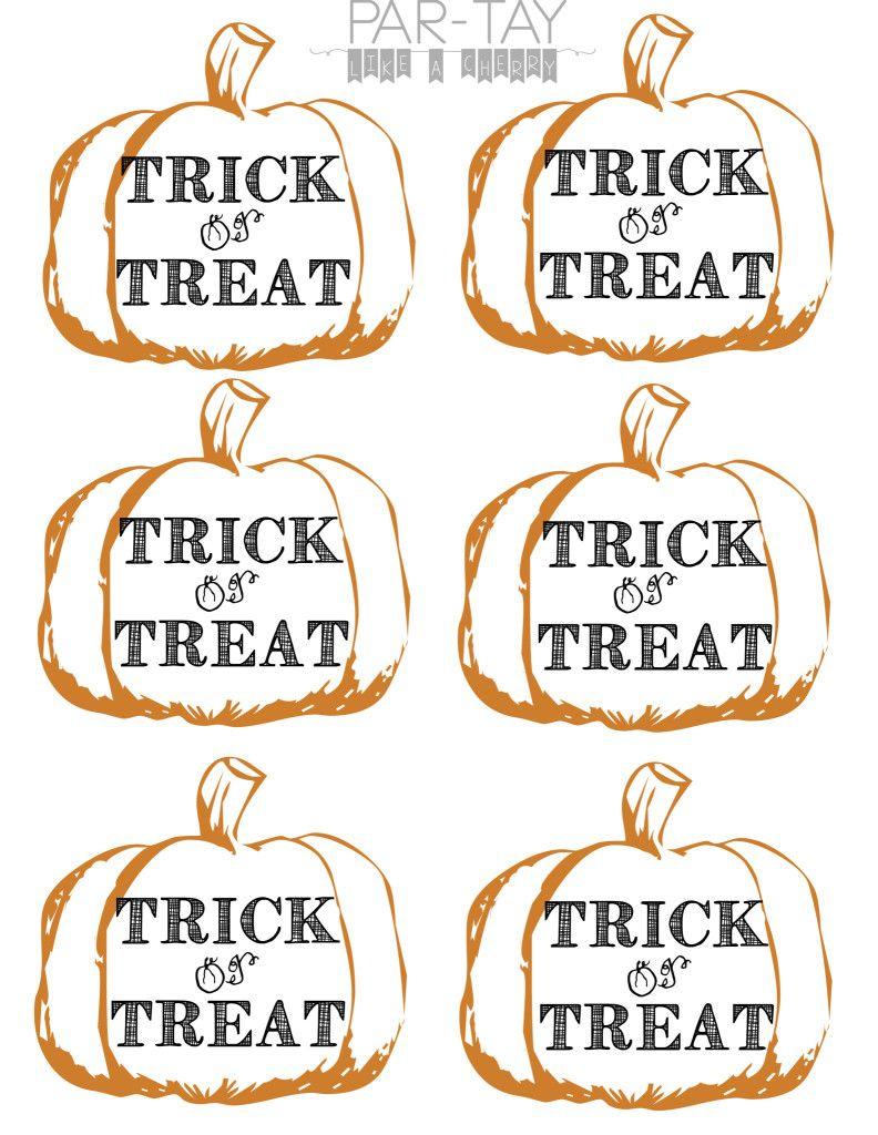 Pumpkin Tags Free Printable | Party Like A Cherry | Pinterest - Free Printable Halloween Tags