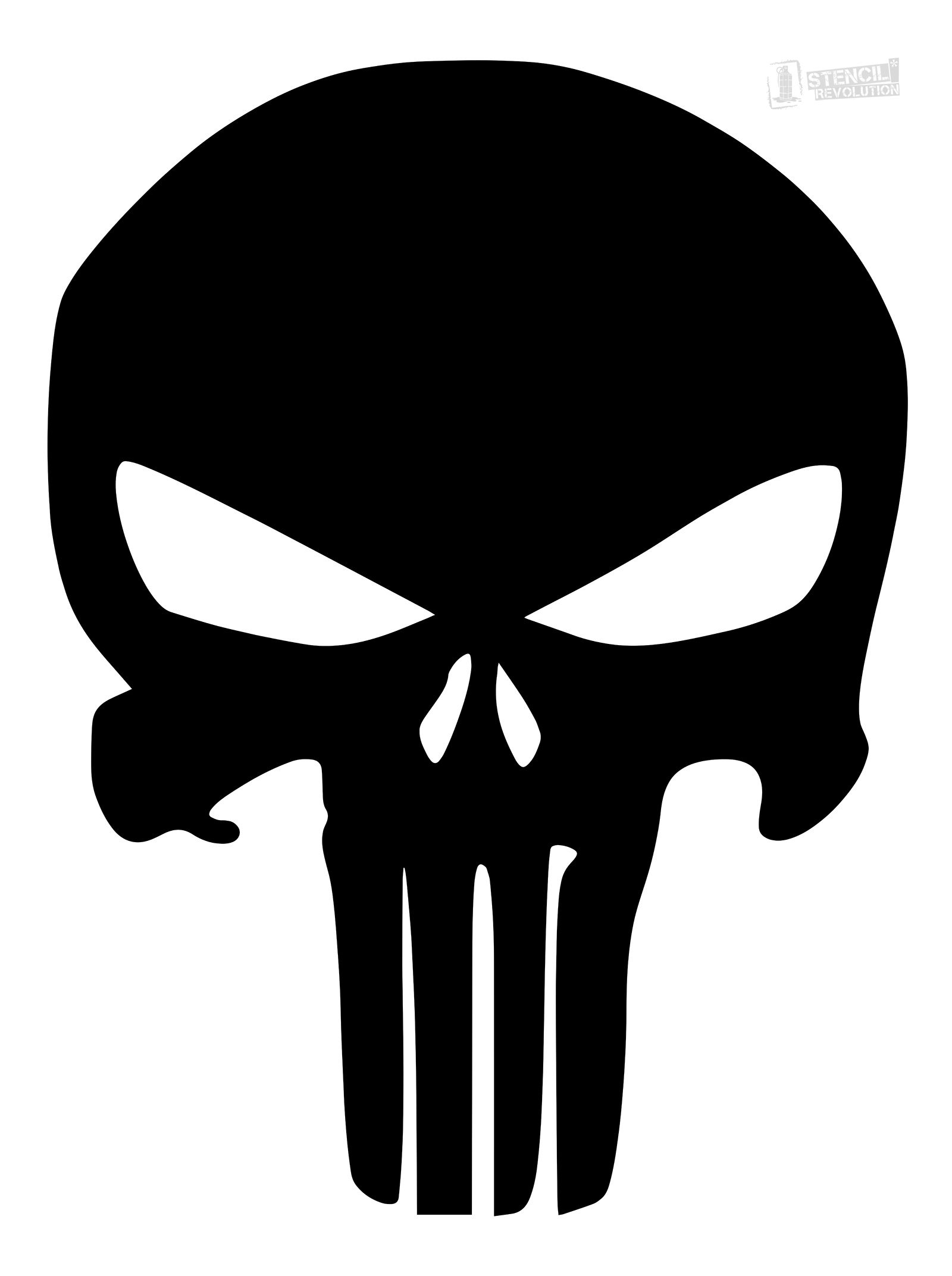 Punisher Skull Stencil | Firearms | Pinterest | Skull Stencil - Skull Stencils Free Printable