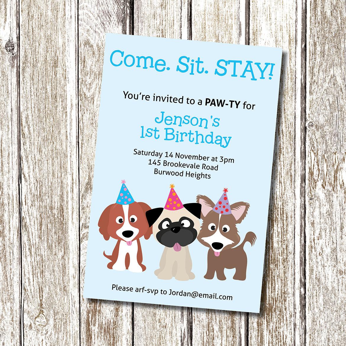 Puppy Dog Party Free Printable Invitations Edbd B C Ecc Luxury Puppy - Free Printable Puppy Dog Birthday Invitations