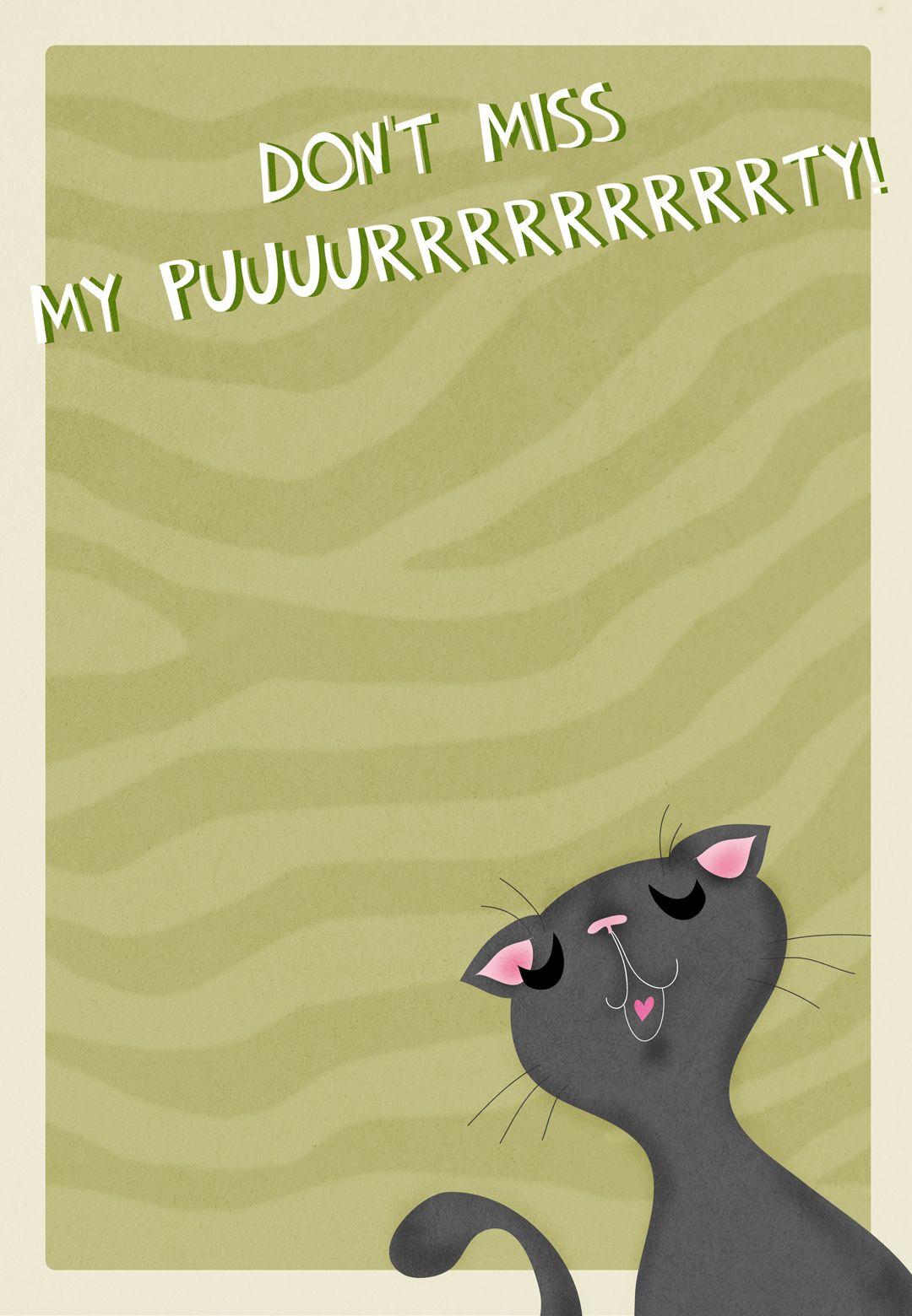 Purrrrty - Free Printable Birthday Invitation Template | Greetings - Free Printable Kitten Birthday Invitations