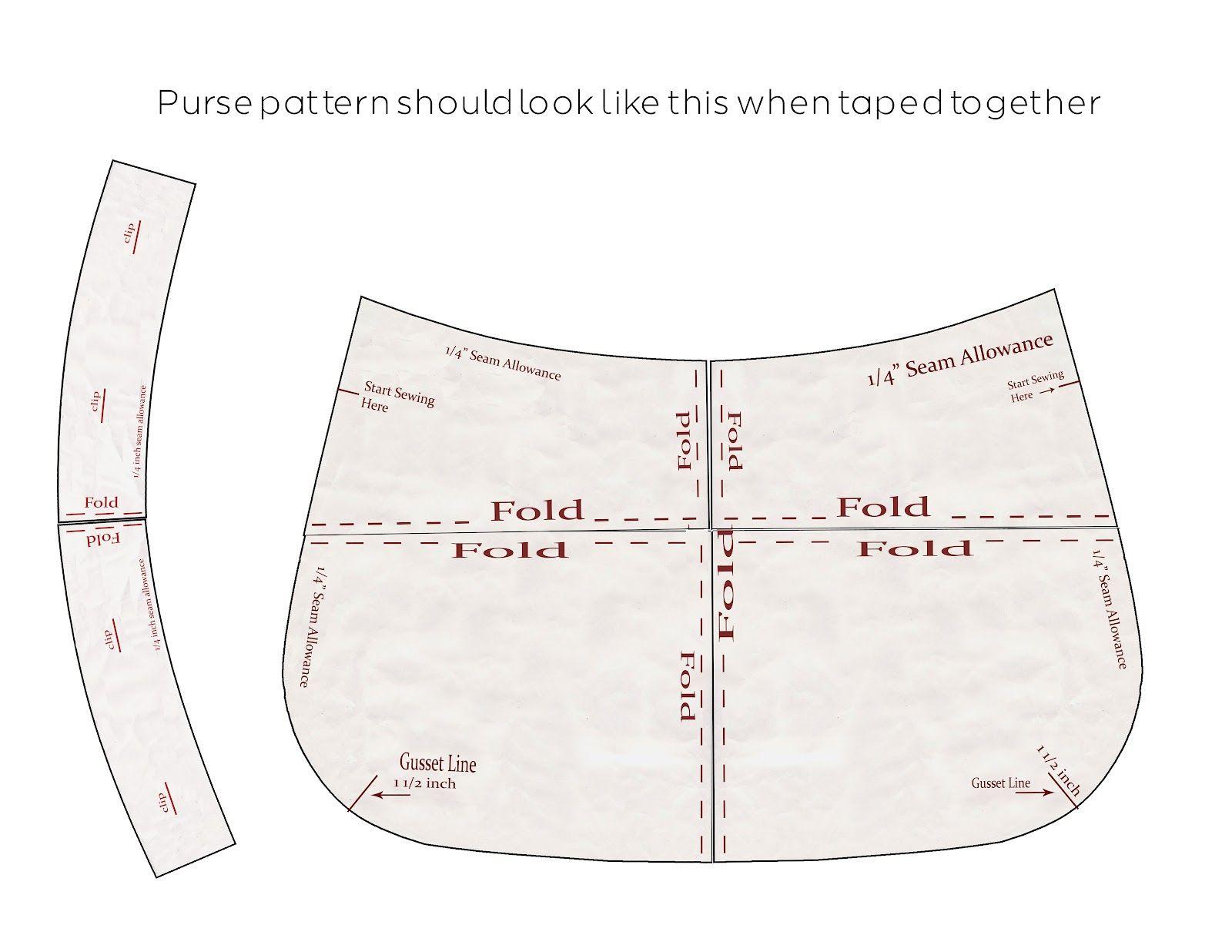 Purse Patterns Print Free |  Download The Pattern Pieces To Your - Free Printable Purse Patterns To Sew