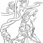 Rapunzel And Four Sisters Coloring Page | Free Printable Coloring Pages   Free Printable Tangled