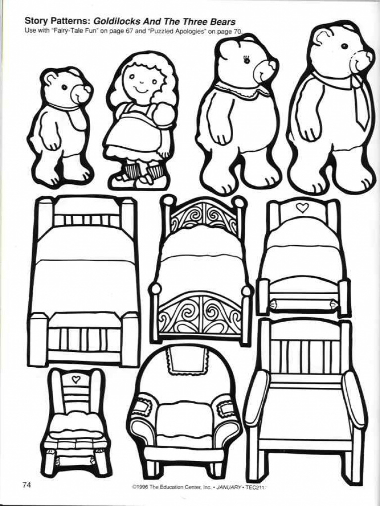Read Goldilocks And The Three Bears And Then Print Out Some Coloring - Free Printable Goldilocks And The Three Bears Story