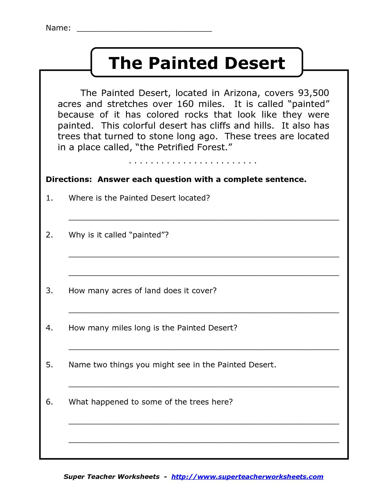 Reading Worksheets For 4Th Grade | Reading Comprehension Worksheets - Free Printable 4Th Grade Reading Worksheets