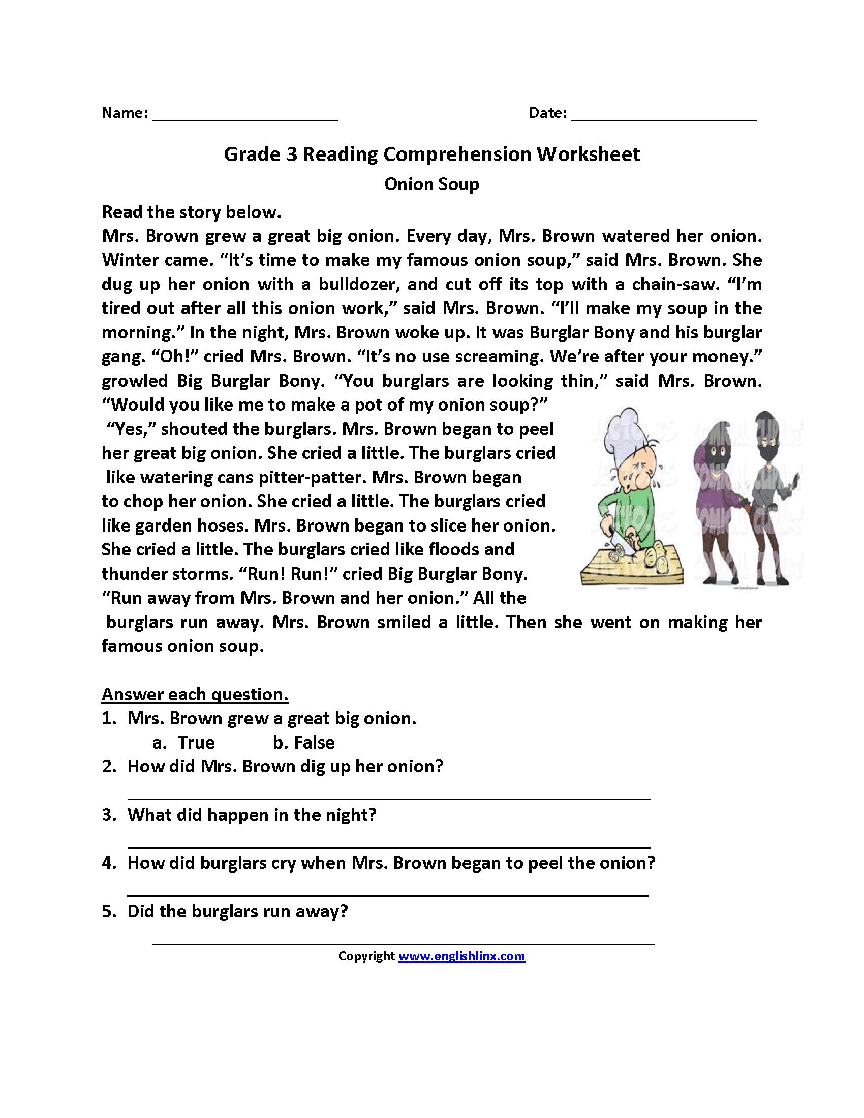 Reading Worksheets   Third Grade Reading Worksheets - Free Printable 3Rd Grade Reading Worksheets