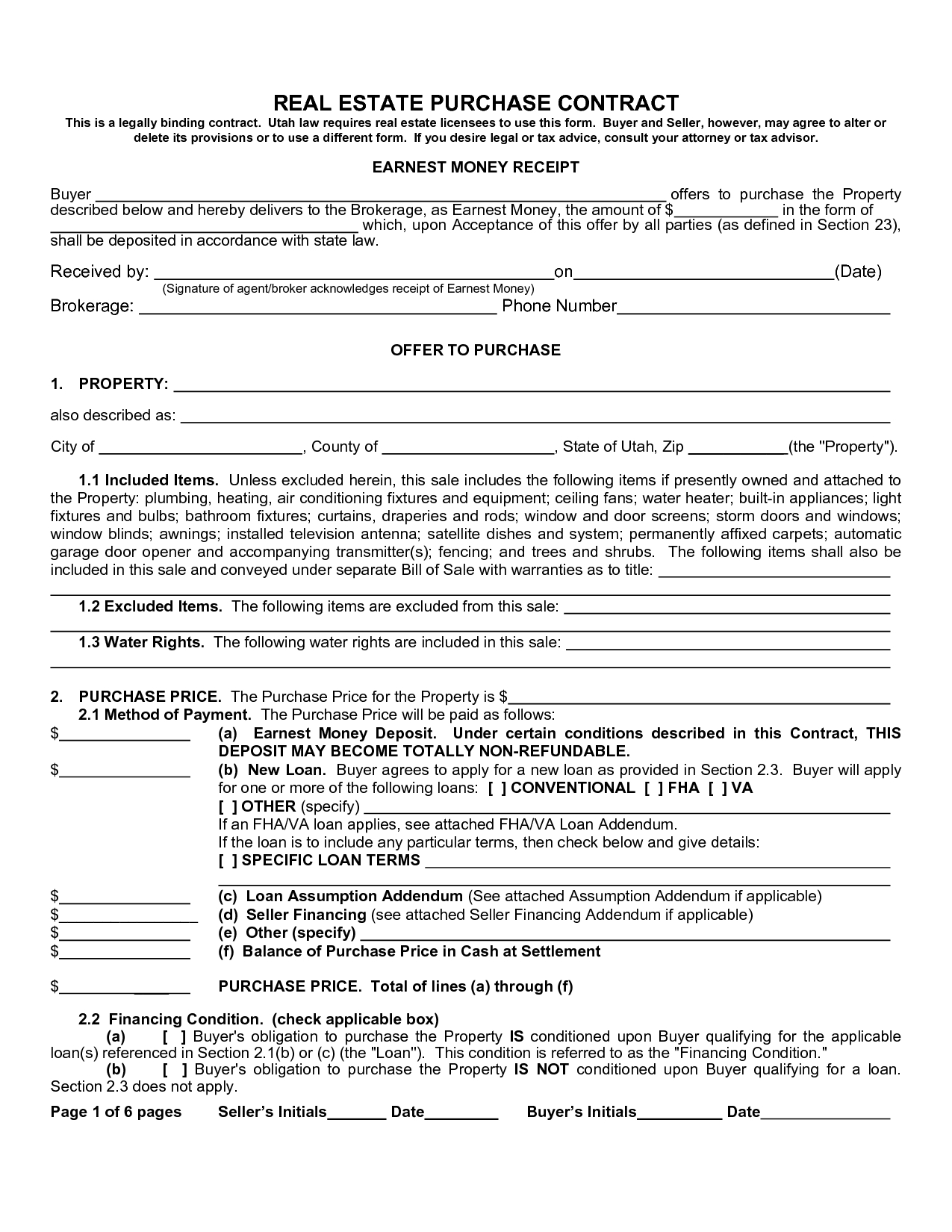 Real Estate Purchase Agreement Form Sample Image Gallery - Imggrid - Free Printable Real Estate Purchase Agreement
