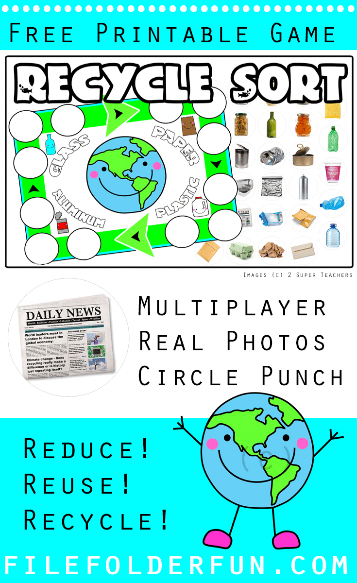 Recycle File Folder Game - The Crafty Classroom - Free Printable File Folder Games