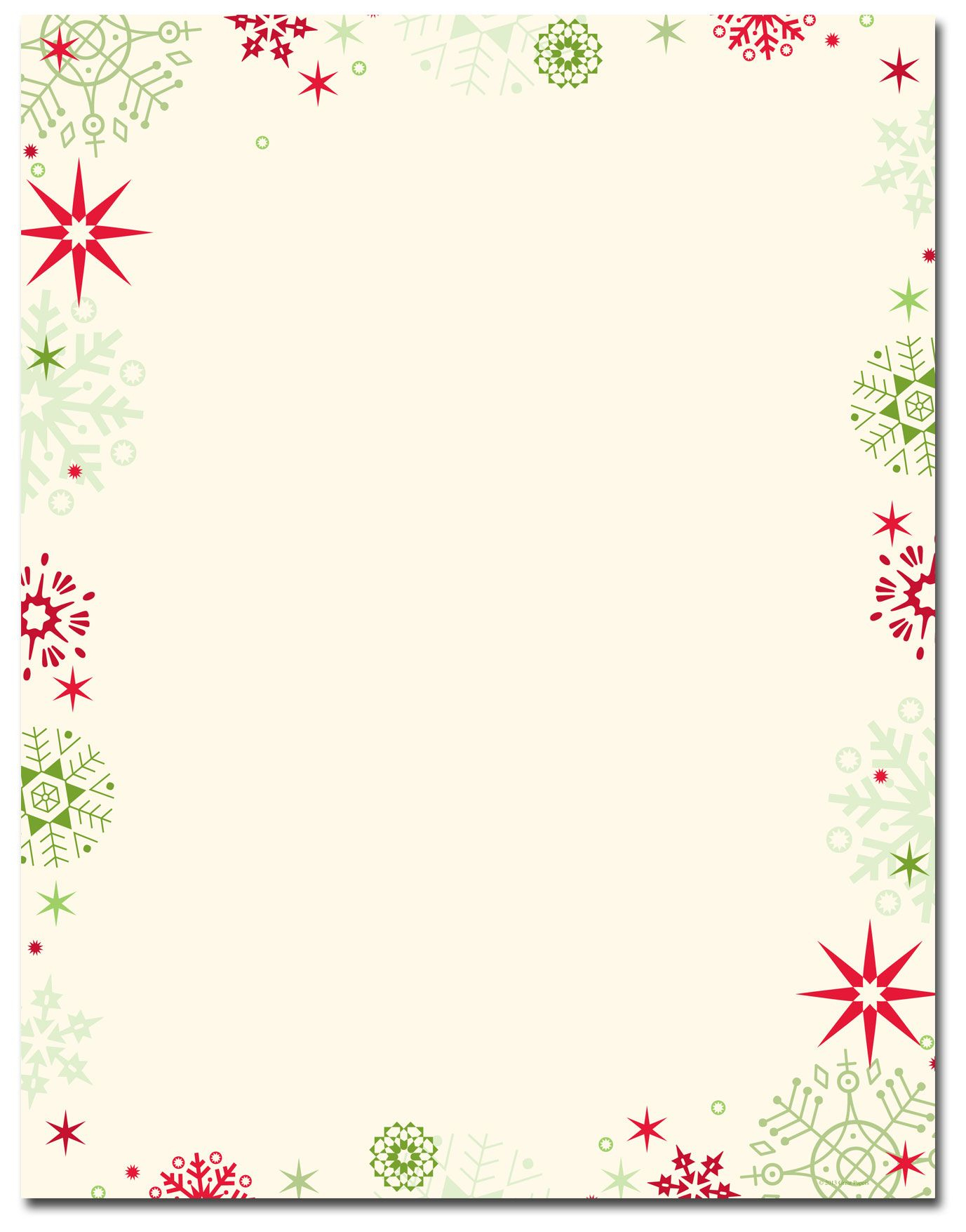 Red & Green Flakes Letterhead | Holiday Papers | Pinterest - Free Printable Christmas Border Paper