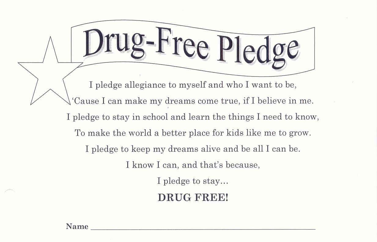 Red Ribbon Week Drug Free Pledge   School Counseling   Pinterest - Free Printable Drug Free Pledge Cards