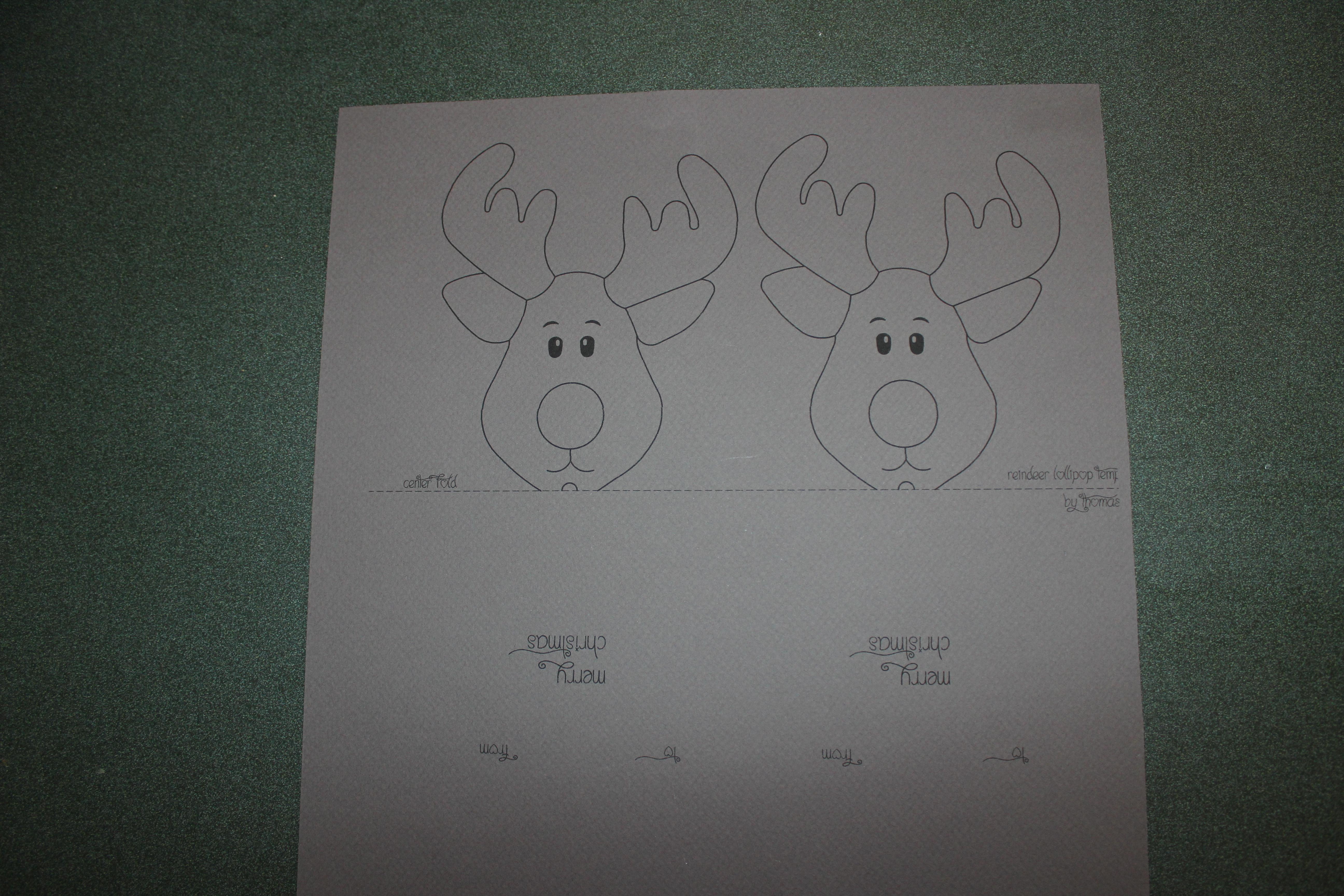 Reindeer Lollipop Card Tutorial   Create It Stitchery - Free Printable Reindeer Lollipop Template