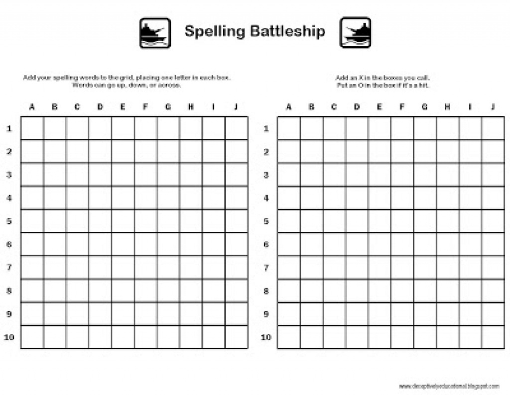 Relentlessly Fun, Deceptively Educational: Spelling Battleship In - Free Printable Battleship Game