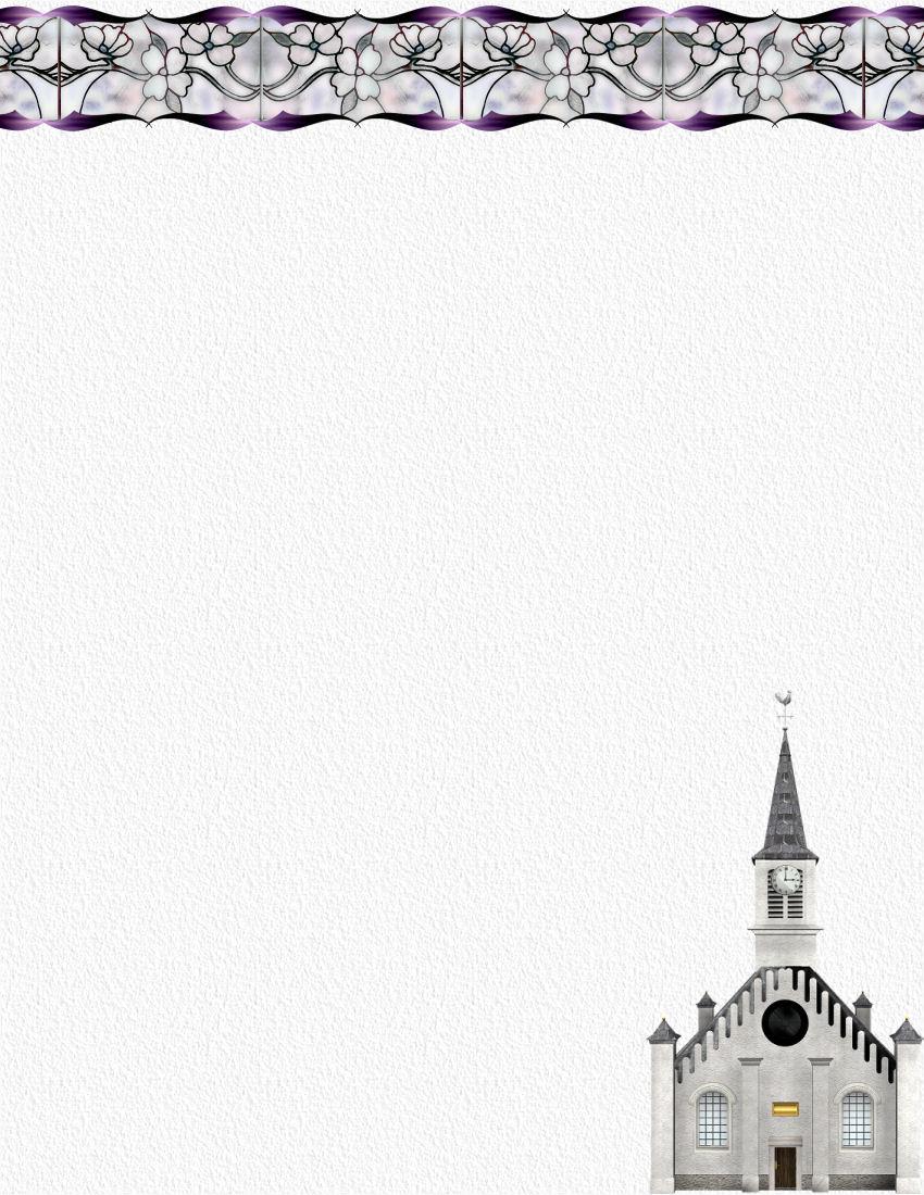 Religious Stationery Theme Page 1 - Free Printable Religious Letterhead