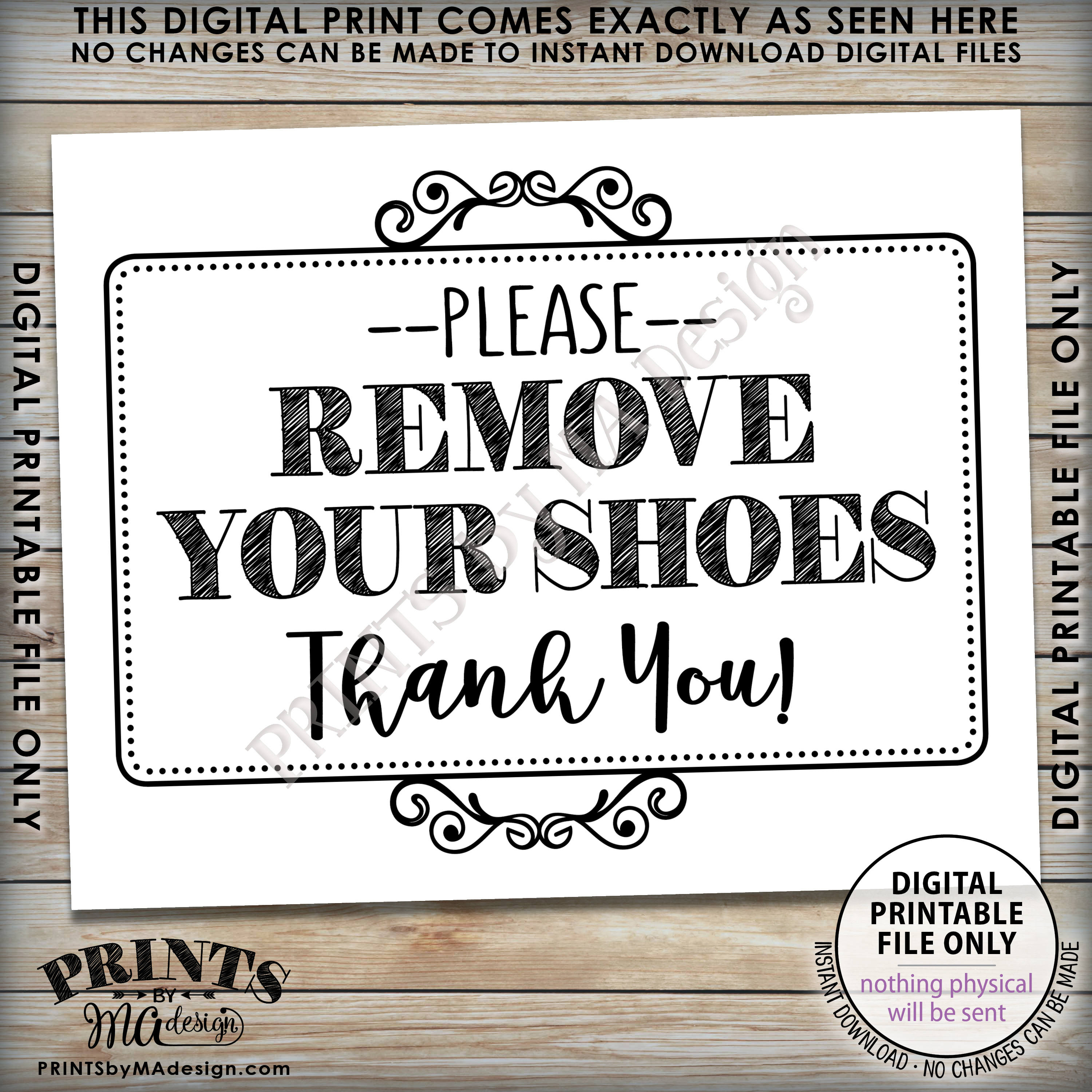 Remove Shoes Sign, Please Remove Your Shoes, Entryway Sign, Entrance - Free Printable Remove Your Shoes Sign